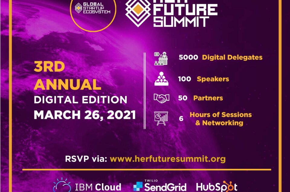 """Global Startup Ecosystem (GSE) Announces 3rd Annual """"Her Future Summit"""" To Train Women for Careers of the Future"""